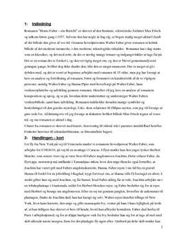 SSO om Homo Faber – ein Bericht