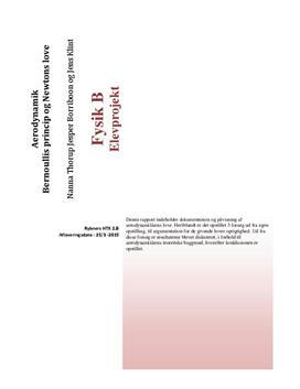 Aerodynamik og aerodynamikkens love | Rapport |Fysik B