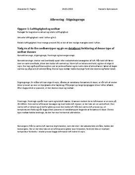Opgaver om nedbørstyper | Naturgeografi C