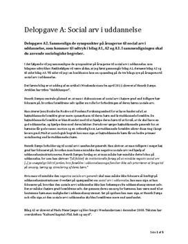 Delopgave A: Social arv i uddannelse | Samfundsfag A