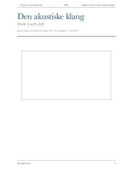 Analyse af Bachs Fuga i C-mol | SRO | Musik A og Fysik B