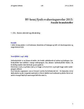 Densitet og forbrænding af carbonhydrider | Evalueringsøvelse | NV