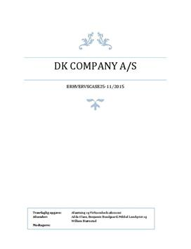 Udfordringer for DK Company | Eksamen 2015