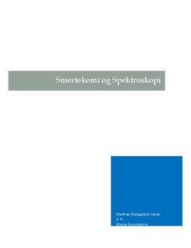 Smertekemi og spektroskopi | Undersøgelse af lidokain | SRP