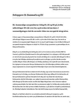 Delopgave B: Danmark og EU | Samfundsfag A