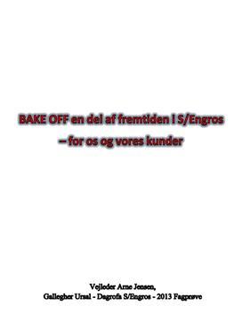 Salgsassistent fagprøve om Bake Off | EUD