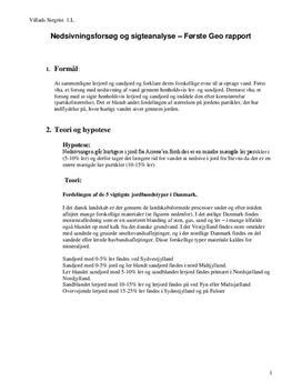Nedsivningsforsøg og sigteanalyse | Lerjord og sandjord | Geografi C