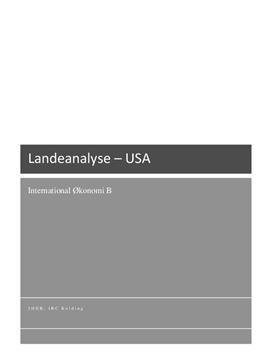 Landeanalyse af USA | International Økonomi B
