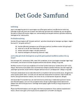 "Synopsis om ""Det gode Samfund"" | KS"