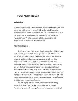 Poul Henningsen og funktionalismen i Danmark | Billedkunst C