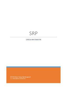 SRP om Græsk Matematik | Historie A og Matematik A
