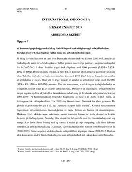 IØ | Eksamen maj 2014 | Arbejdsmarkedet