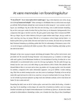 essay dansk stil opbygning