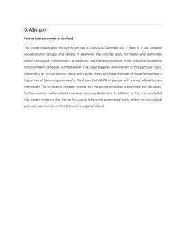 SRP om fedme og særligt udsatte befolkningsgrupper i Samfundsfag A og Idræt B