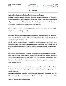 Virksomhedsanalyse af Imerco | Afsætning A