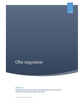 Olie migration | Rapport | Geografi C