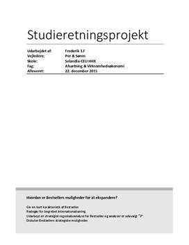 SOP om Bestseller A/S og internationalisering i VØ A og Afsætning A
