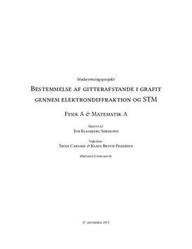 SRP om bestemmelse af gitterafstande i grafit i Fysik A og Matematik A