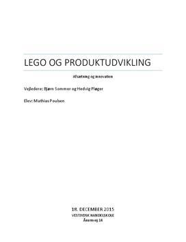 SRO om Legos produktudvikling i Afsætning A og Innovation B