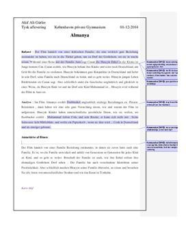 Almanya – Willkommen in Deutschland | Referat, analyse og anmeldelse