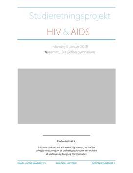 SRP om immunsystemet og hiv og aids i Historie A og Biologi A