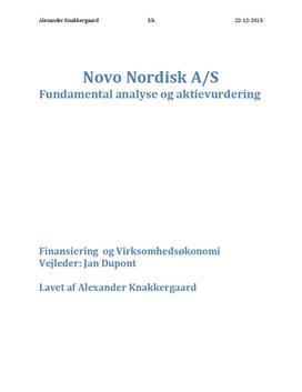 SRP om værdiansættelse af Novo Nordisk   Virksomhedsøkonomi A og Finansiering B
