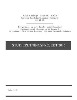 SOP om flygtninge og det danske arbejdsmarked i Dansk A og International Økonomi A