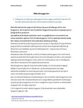 Case 10.1 | Mikrobryggerier | Afsætning 1