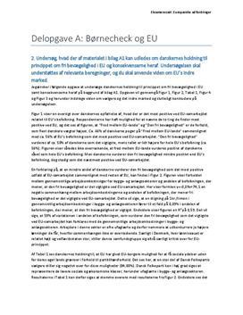Delopgave A: Børnecheck og EU   Samfundsfag A