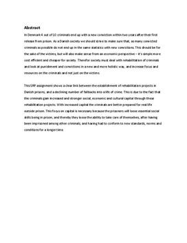 SRP om kriminalitet og resocialisering i Mediefag B og Samfundsfag A