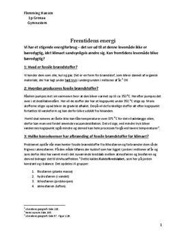 Fossile brændstoffer | Talepapir | NF