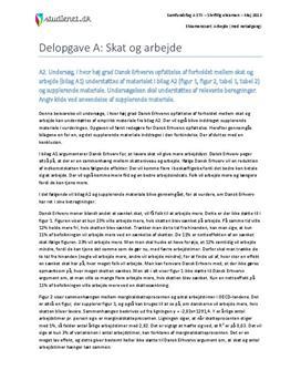 Delopgave A: Skat og arbejde | Samfundsfag A