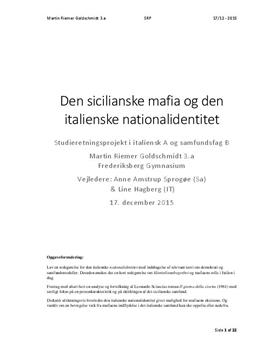 SRP om den italienske national identitet og mafiaens rolle i Italien