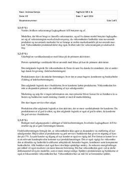 Rentabilitetsanalyse af Lagkagehuset | Virksomhedsøkonomi A