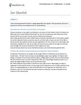 Der Überfall - Tysk fortsættersprog A - Eksamen 23. maj 2014 - STX