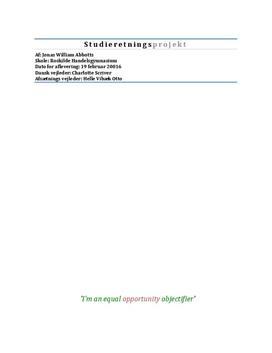 SOP om reklamers fremstilling af kvinden i de trykte medier i Afsætning A og Dansk A