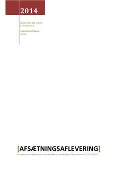 Virksomhedsanalyse af Hansens Flødeis | Afsætning A