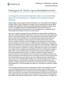 Delopgave B: Staten og markedsøkonomien | Samfundsfag A