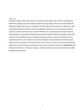 SRP om sandhedsbegrebet i Matematik A og Dansk A