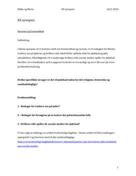 KS synopsis om racisme og fremmedhad