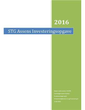SOP om Scandinavian Tobacco Group i Virksomhedsøkonomi A og Finansiering B
