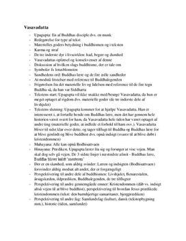 """Noter til teksten """"Vasavadatta"""""""
