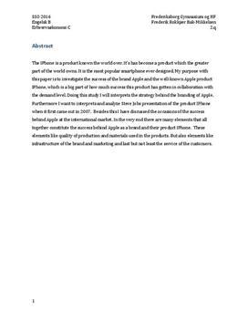 SSO om Apple og Steve Jobs i Engelsk B og Erhvervsøkonomi C