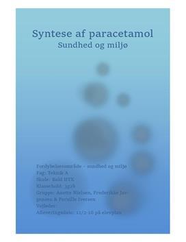 Syntese af paracetamol