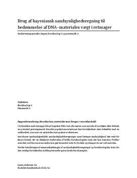 SRP om bayesiansk sandsynlighedsregning i Matematik A og Bioteknologi A