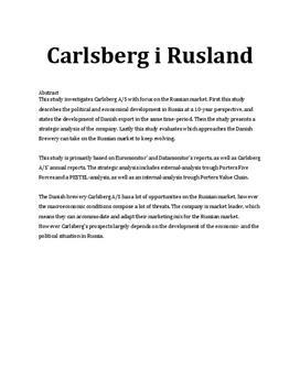 SOP om Carlsberg og det russiske ølmarked i Afsætning A og IØ B
