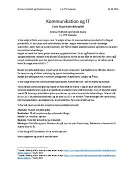 Kommunikationsprodukter | Rapport | Kommunikation/It C