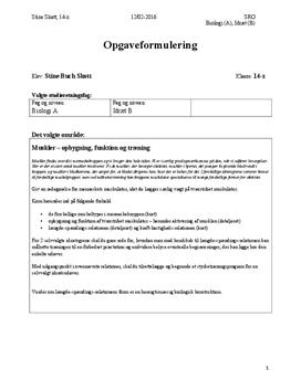 SRO om tværstribet muskulatur i Biologi A og Idræt B