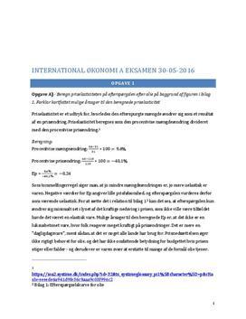International økonomi A | Skriftlig eksamen 30. maj 2016