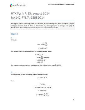 HTX Fysik A 2014 25. august - Besvarelse af eksamenssæt